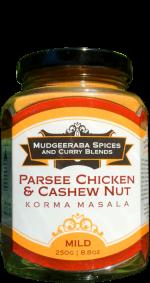 Parsee Chicken & Cashew Korma Masala Mild (250g)