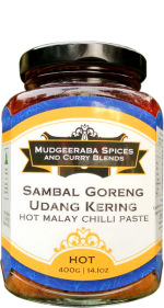 Sambal Goreng (Udang Kering) Malay Chilli Paste Hot (400g)